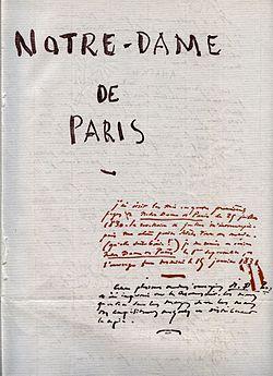 250px-Notre_Dame_de_Paris_Victor_Hugo_Manuscrit_1