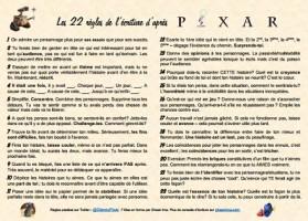 Les 22 règles de l'écriture selon les studios Pixar