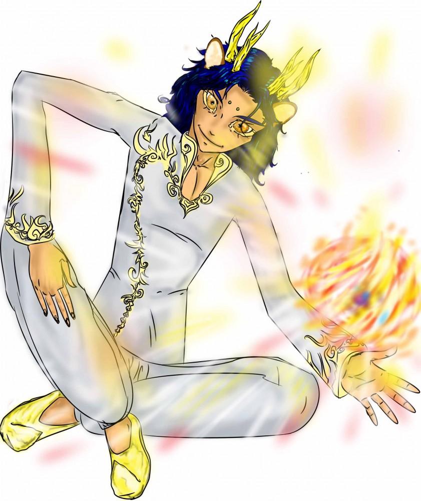 le démon panthère Sitry sort ses pouvoirs