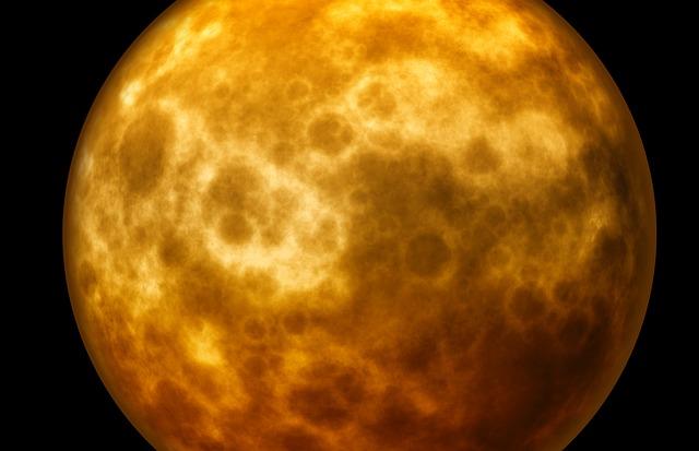 illustration de la lune rousse